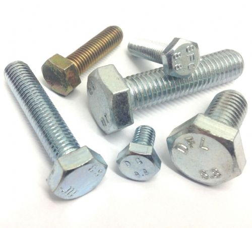 Hex Setscrews Grade 8.8 Bright Zinc Plated To DIN 933
